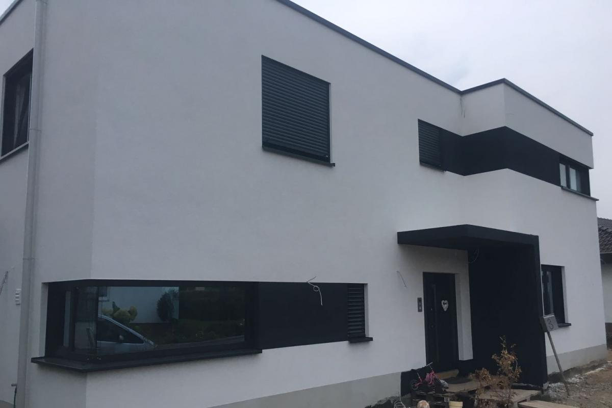 Hausfassade Weiß Anthrazit fassadentechnik · vogelart ∙ maler meisterbetrieb ∙ germersheim