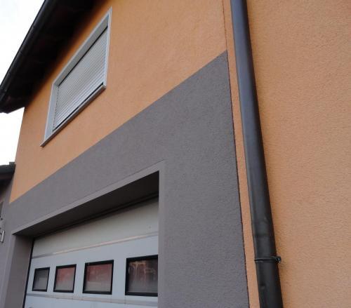 Fassade Wärmedämmung Orange Braun Germersheim 2