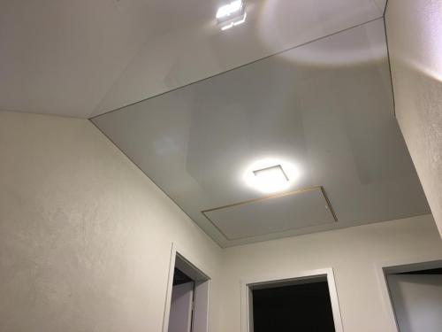 Lackspanndecke Dachschräge Weiß Glanz Wörth 1