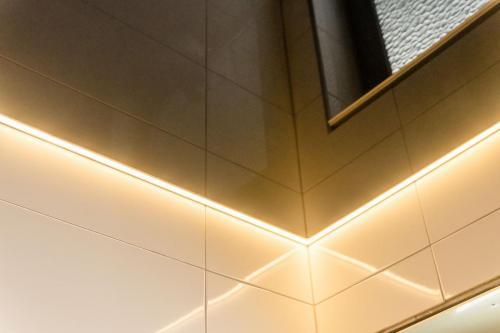 Lackspanndecke Schwarz LED Stripes Lingenfeld 2
