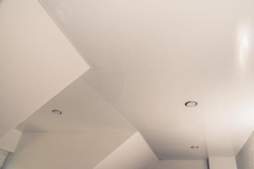 Lackspanndecke Weiß Glanz Dachschräge Germersheim 1