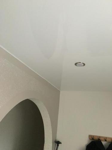 Lackspanndecke Weiß Glanz Dachschräge Germersheim 2