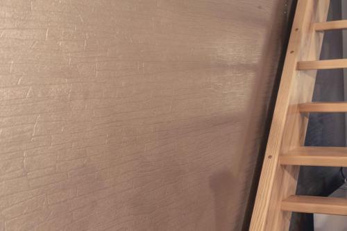 Steinoptiktapete Metallicbeschichtung Braun 2